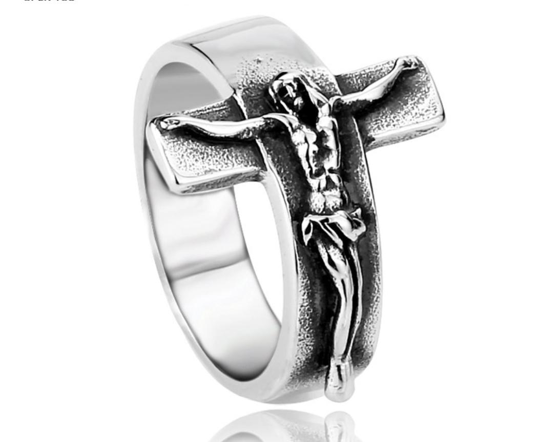 Bague christ crucifix
