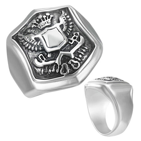 Bague blason royal