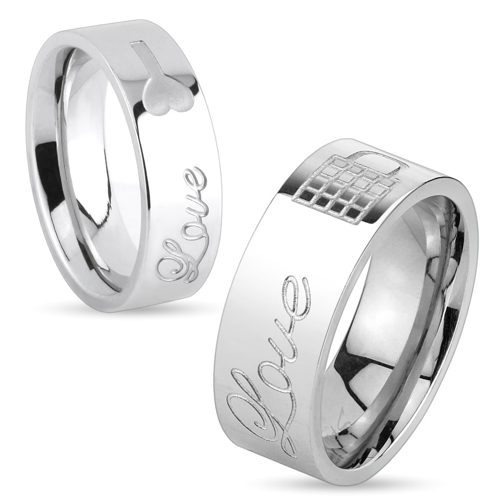 Bague mixte inscription love special couple