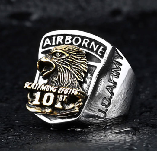 Bague parachutiste us army