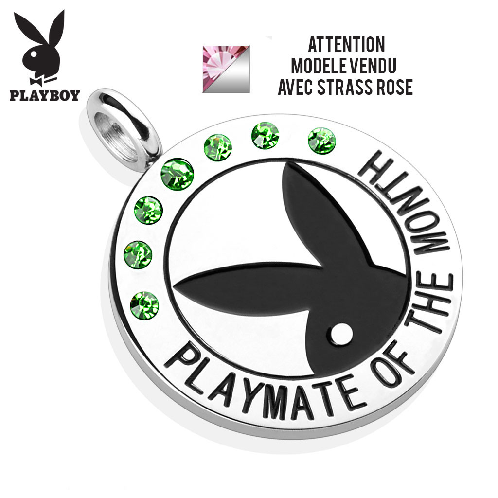 Pendentif lapin playboy playmate of the month